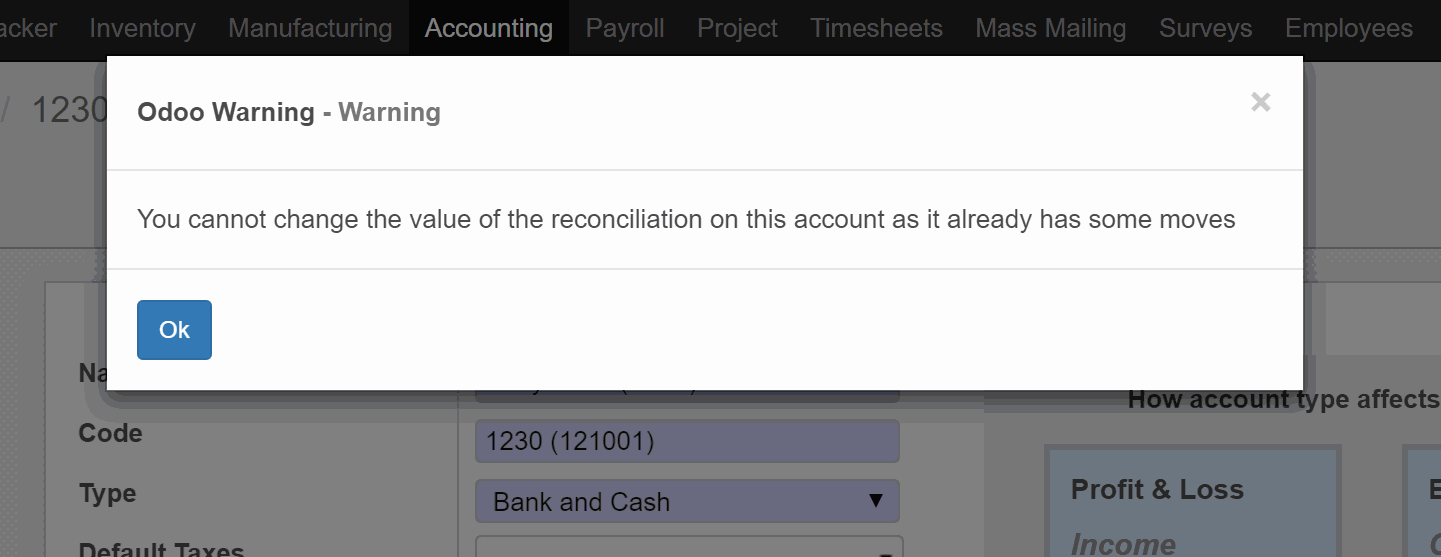 Allow Reconciliation for Accounts in Odoo | CierTech